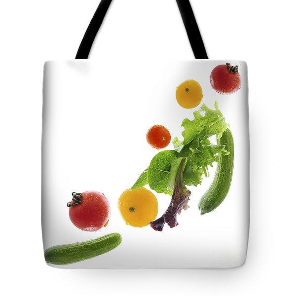 Fresh Vegetables Flying Tote Bag by Elena Elisseeva