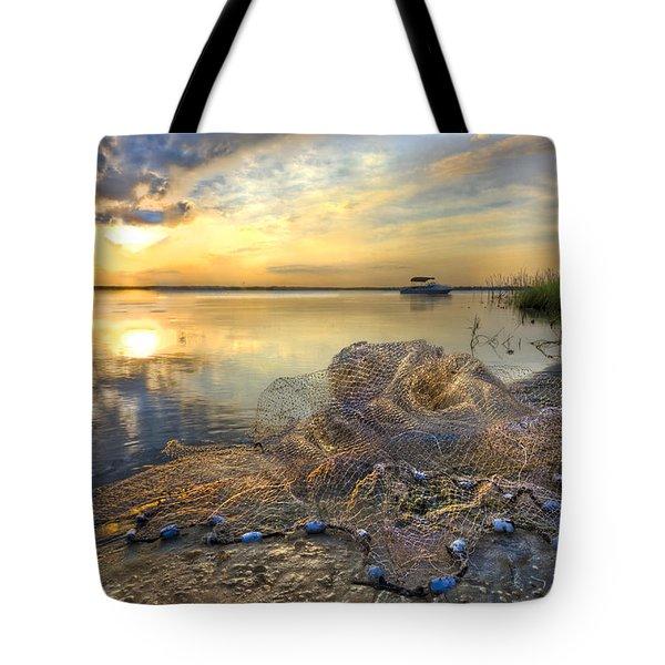 Fresh Water Tote Bag by Debra and Dave Vanderlaan