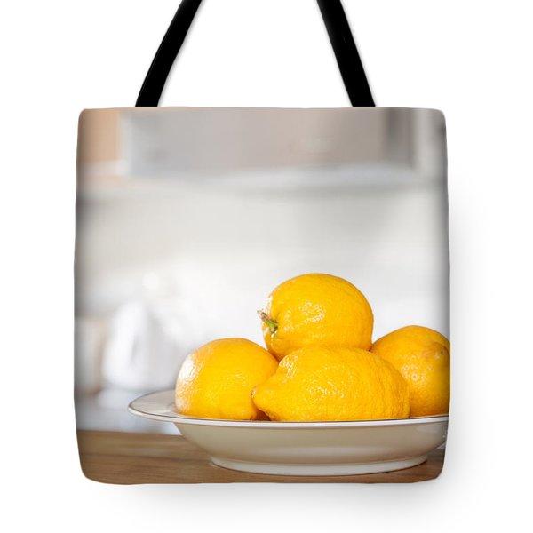 Freshly Picked Lemons Tote Bag by Amanda Elwell