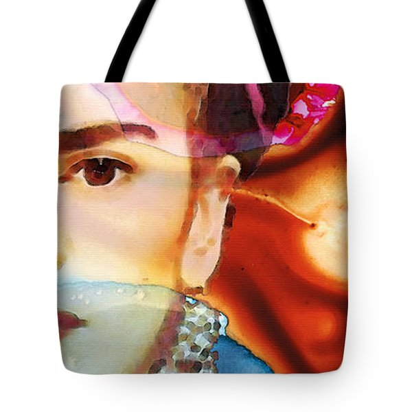 Frida Kahlo Art - Seeing Color Tote Bag by Sharon Cummings