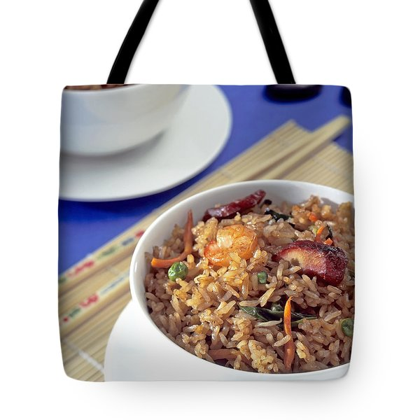 Fried Rice Tote Bag by Tim Hester