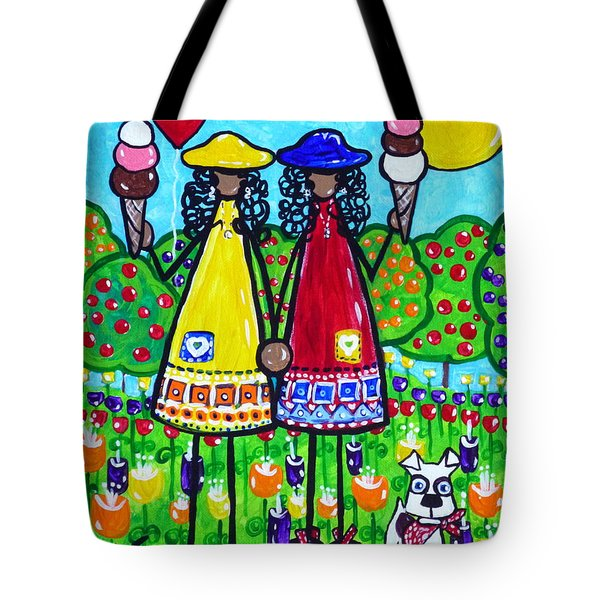 Friends Tote Bag by Jackie Carpenter