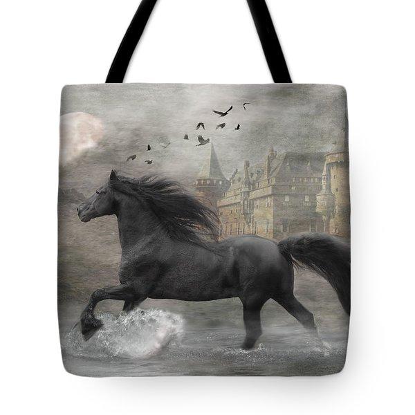Friesian Fantasy Tote Bag by Fran J Scott