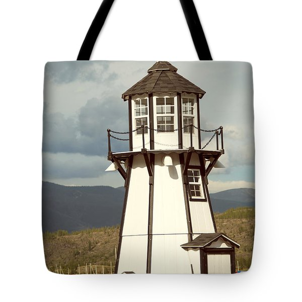 Frisco Bay Marina Lighthouse Tote Bag by Juli Scalzi