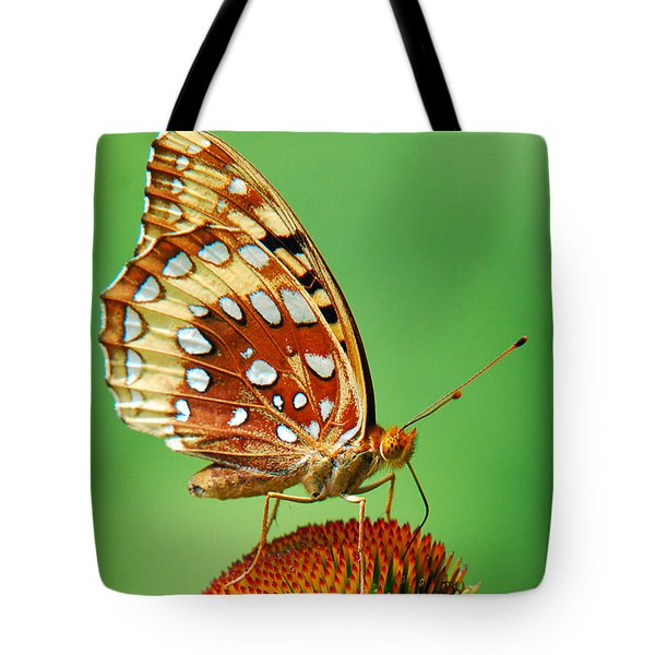 Fritillary Butterfly Tote Bag by Christina Rollo