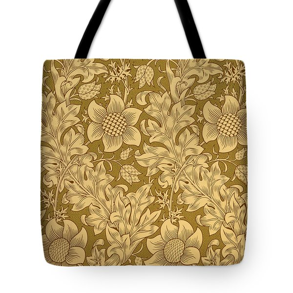 Fritillary Wallpaper Design Tote Bag by William Morris