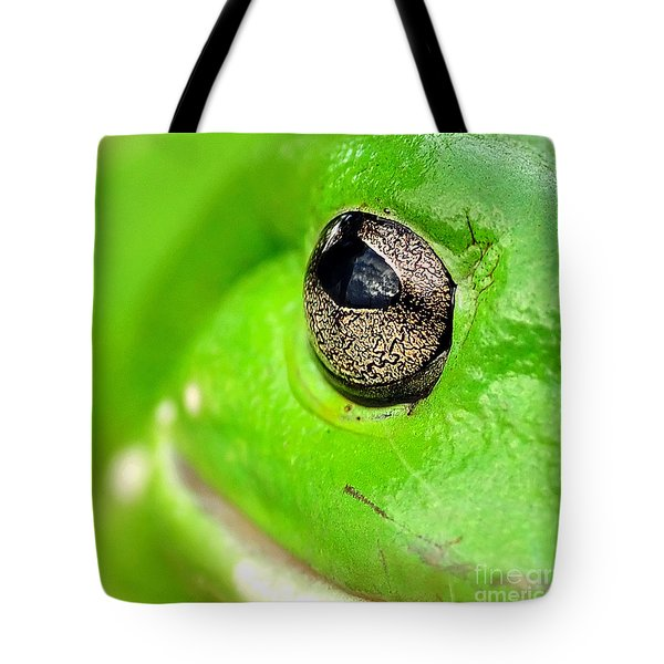 Frog's Eye Tote Bag by Kaye Menner