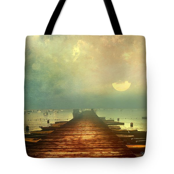 From The Moon To The Mist Tote Bag by Georgiana Romanovna