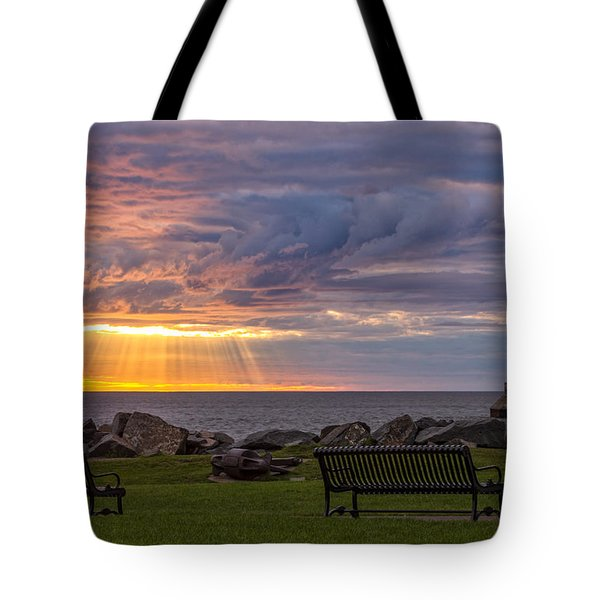 Front Row Seats Tote Bag by Mary Amerman