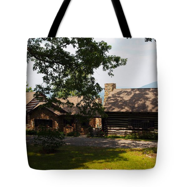 front view of the cabin Tote Bag by Robert Margetts