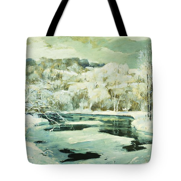 Frosted Trees Tote Bag by Jonas Lie