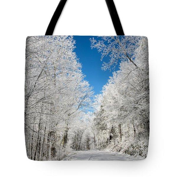 Frosted Winter Tote Bag by John Haldane