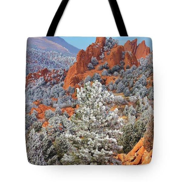 Frosted Wonderland 1 Tote Bag by Diane Alexander