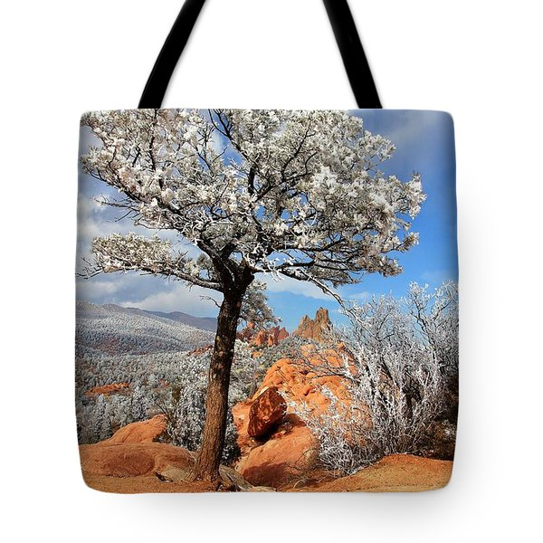 Frosted Wonderland 3 Tote Bag by Diane Alexander