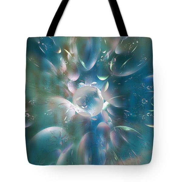 Frostwork Tote Bag by Klara Acel