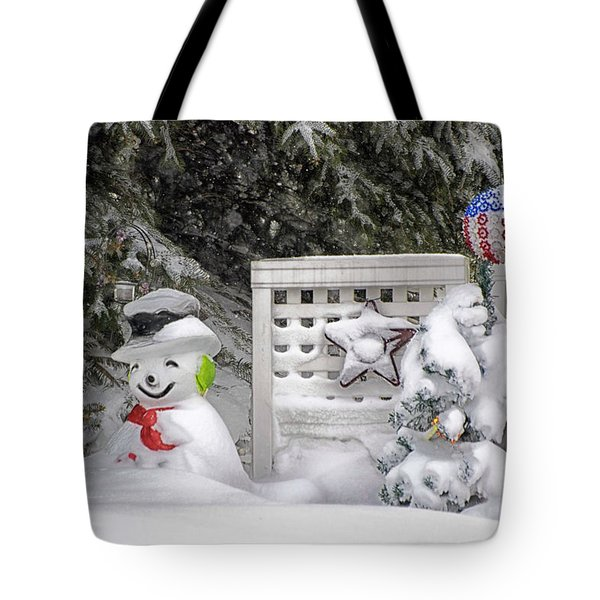 Frosty The Snow Man Tote Bag by Thomas Woolworth