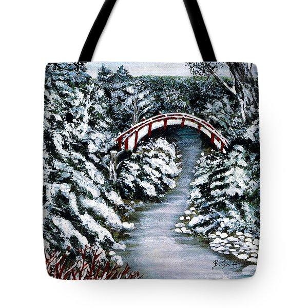 Frozen Brook - Winter - Bridge Tote Bag by Barbara Griffin
