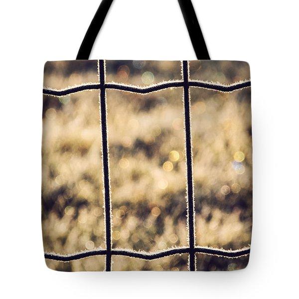 Frozen Fence Tote Bag by Wim Lanclus