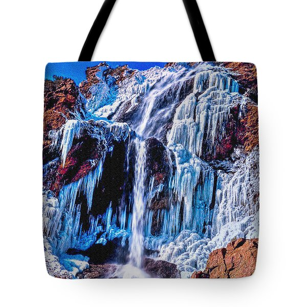 Frozen In Motion Tote Bag by Bob and Nadine Johnston