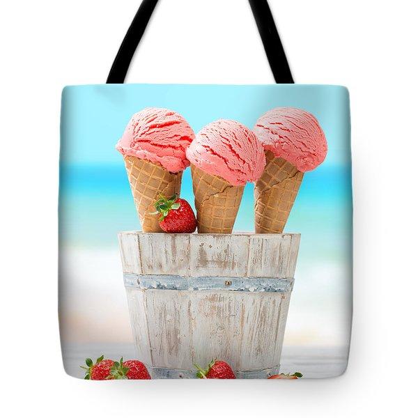 Fruit Ice Cream Tote Bag by Amanda Elwell