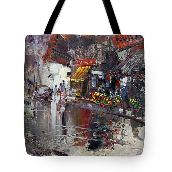 Fruit Market Tote Bag by Ylli Haruni