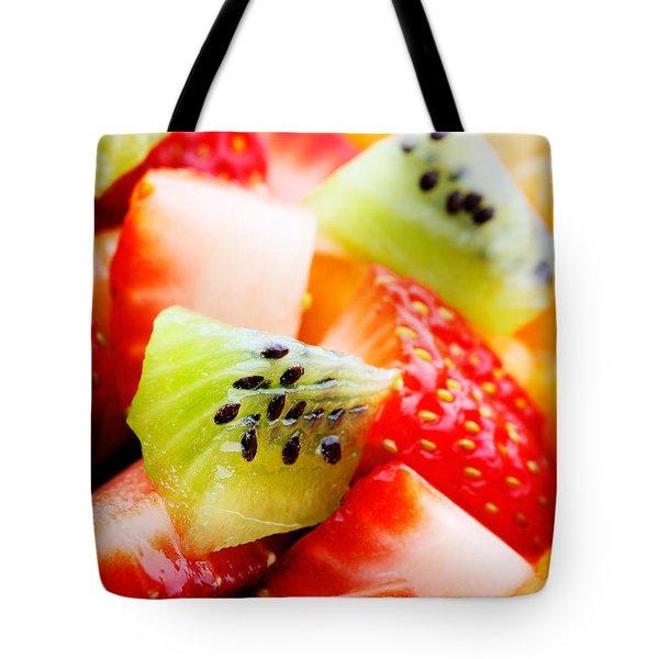 Fruit Salad Macro Tote Bag by Johan Swanepoel