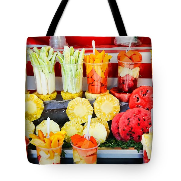 Fruit Stand -  Guadalajara -  Mexico Tote Bag by David Lawrence