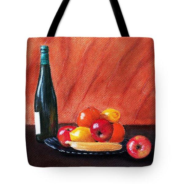 Fruits And Wine Tote Bag by Anastasiya Malakhova