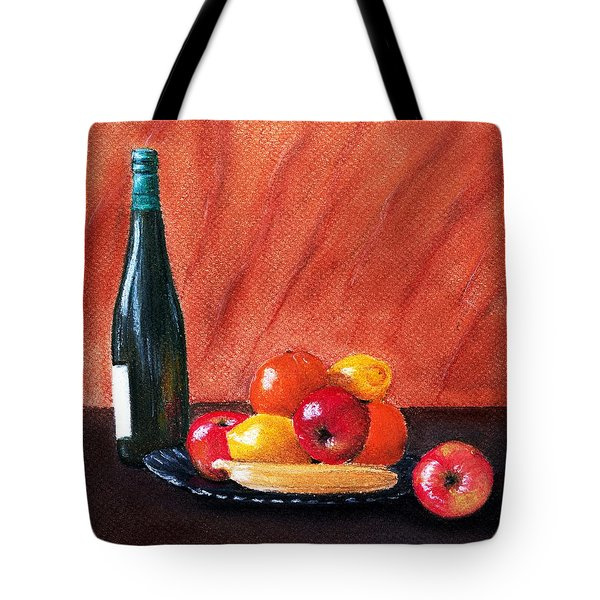 Fruits and Wine Tote Bag by Anastasiya Malakhova