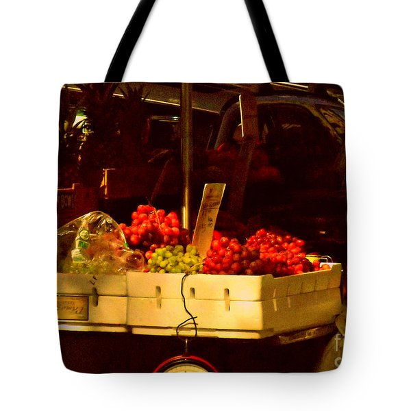 Fruitstand With Pineapples Tote Bag by Miriam Danar