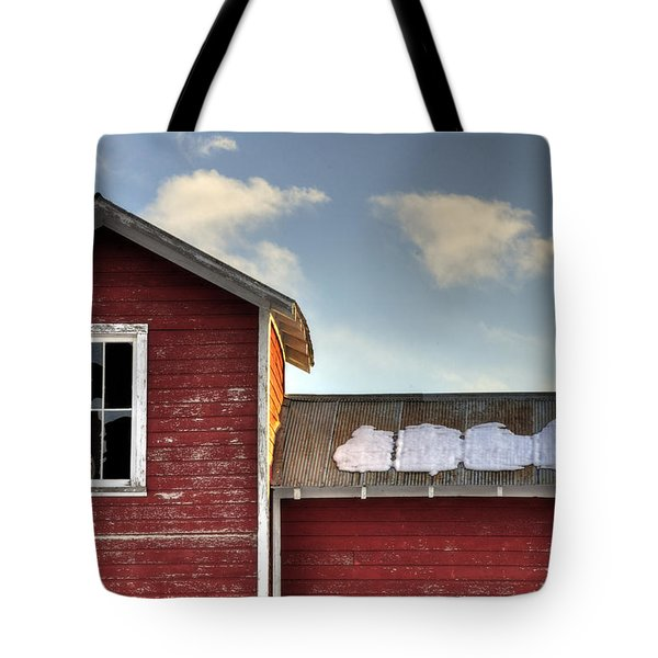 Ft Collins Barn 13493 Tote Bag by Jerry Sodorff