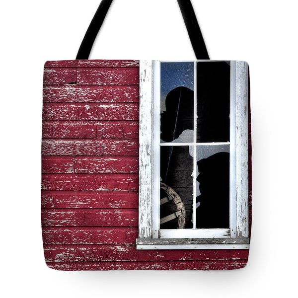 Ft Collins Barn Window 13568 Tote Bag by Jerry Sodorff