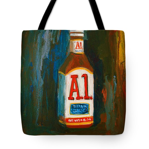 Full Flavored - A.1 Steak Sauce Tote Bag by Patricia Awapara