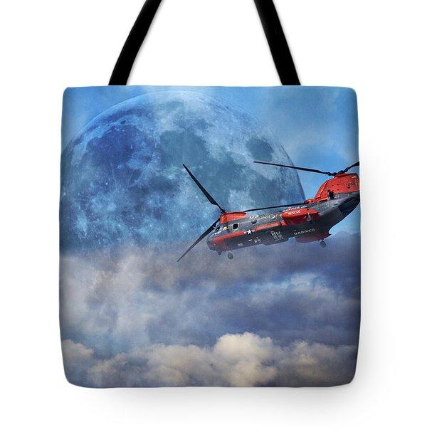 Full Moon Rescue Tote Bag by Betsy C  Knapp
