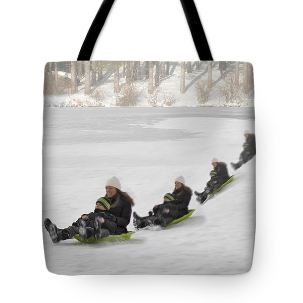 Fun In The Snow Tote Bag by Susan Candelario
