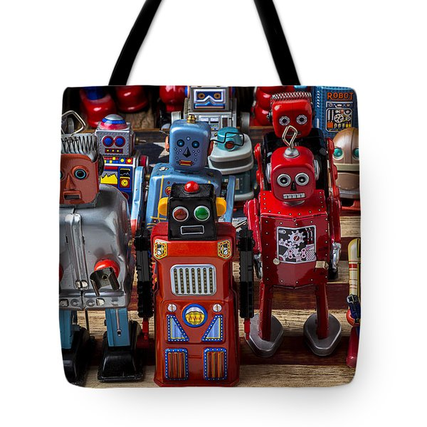 Fun Toy Robots Tote Bag by Garry Gay