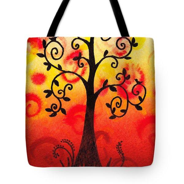 Fun Tree Of Life Impression IIi Tote Bag by Irina Sztukowski