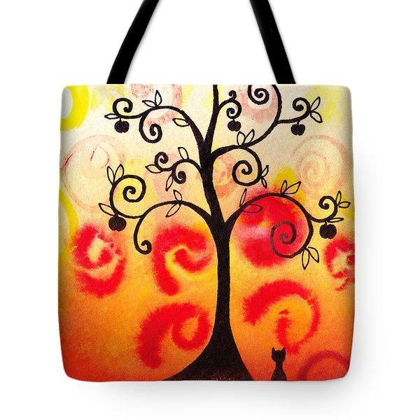 Fun Tree Of Life Impression Iv Tote Bag by Irina Sztukowski
