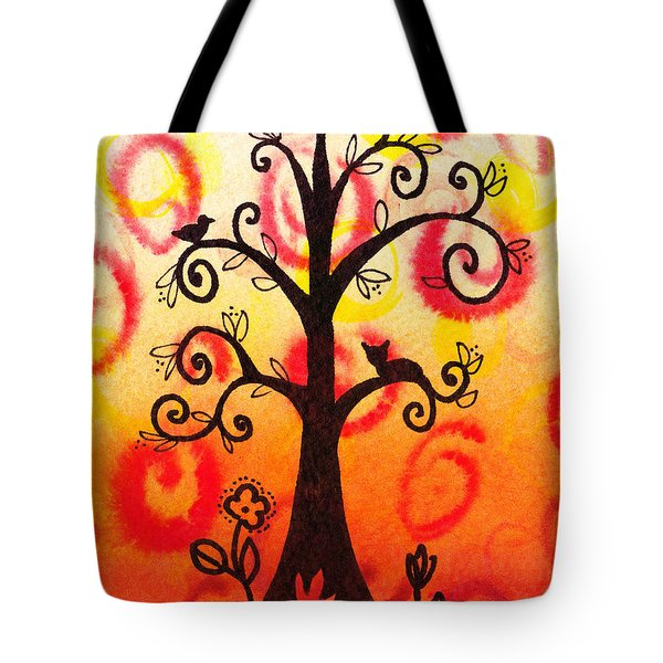 Fun Tree Of Life Impression V Tote Bag by Irina Sztukowski