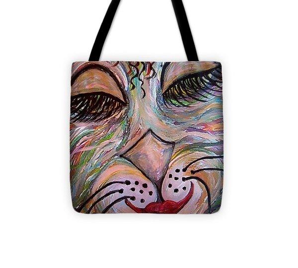 Funky Feline  Tote Bag by Eloise Schneider