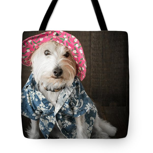 Funny Doggie Tote Bag by Edward Fielding