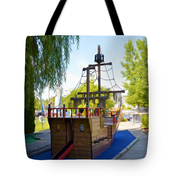 Funplex Funpark Boat 9 Tote Bag by Lanjee Chee