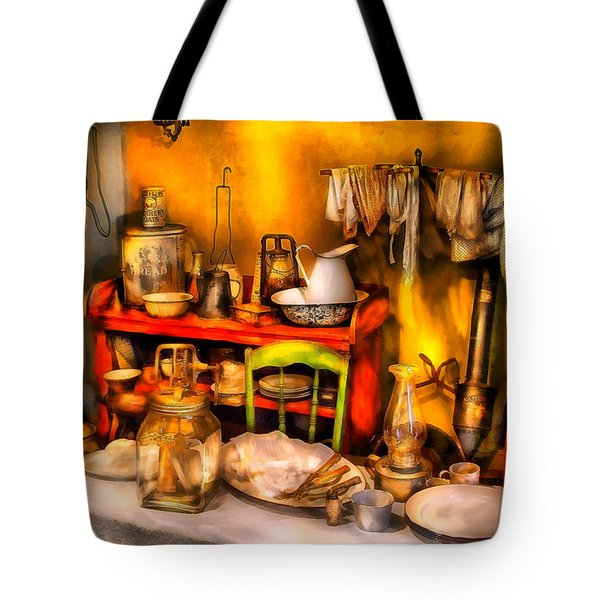Furniture - Table - Our first apartment Tote Bag by Mike Savad