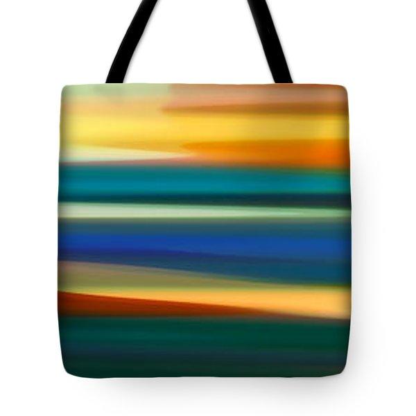 Fury Seascape Panoramic 1 Tote Bag by Amy Vangsgard