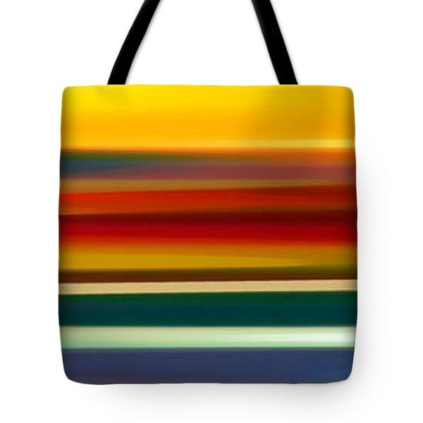 Fury Seascape Panoramic 2 Tote Bag by Amy Vangsgard