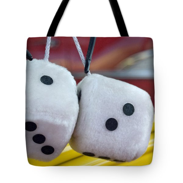 Fuzzy Dice Tote Bag by Charlette Miller