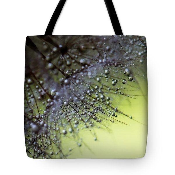 Fuzzy Drops Of Awesomeness Tote Bag by Lisa Knechtel