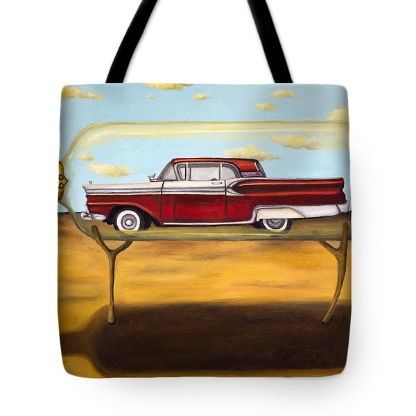Galaxie In A Bottle Tote Bag by Leah Saulnier The Painting Maniac