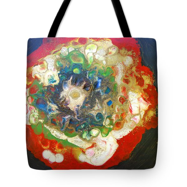 Galaxy With Solar Systems Tote Bag by Augusta Stylianou