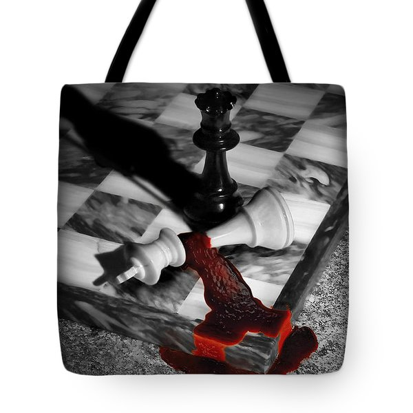 Game - Chess - Check Mate Tote Bag by Mike Savad